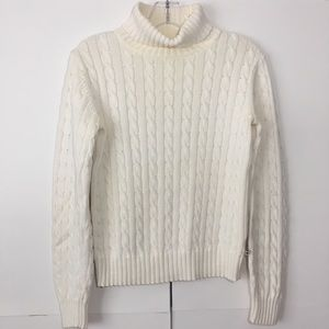 Tommy Hilfiger Cable Knit Turtle Neck Sweater